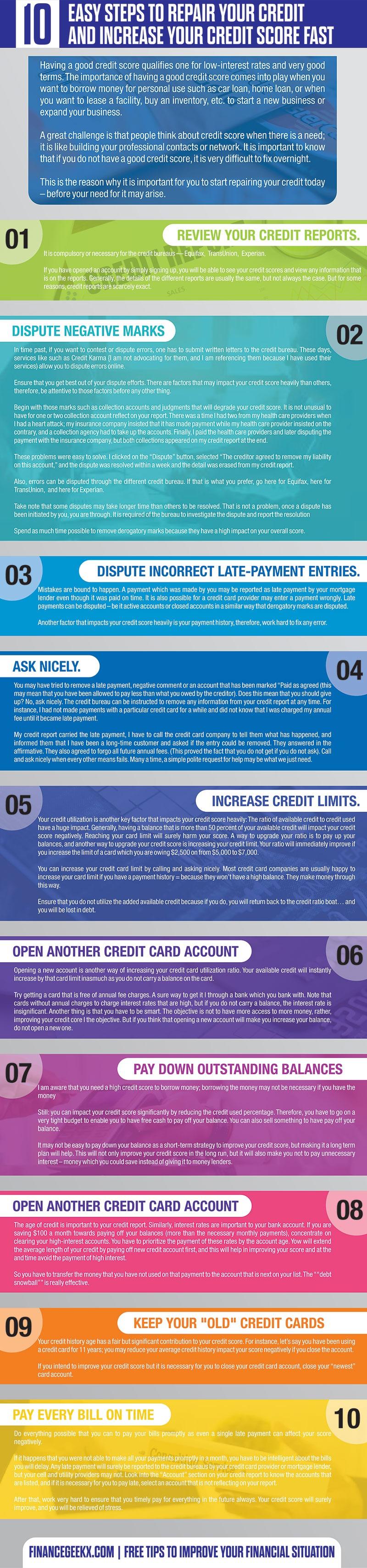 credit repair free tips